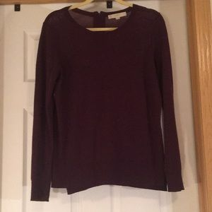 LOFT Dark Plum Thin Sweater
